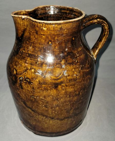 William T. Belcher Sand Mountain Decorated pitcher