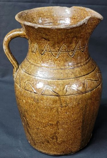 Rare Lanier Co. Timmerman Decorated 2gal Pitcher