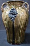 Stellar Clete Meaders Grape Decorated Vase 1983