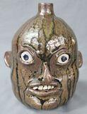 Nathaniel Hewell Face Jug Half Gallon 1994