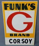 1960's Funk's G Brand Masonite Sign