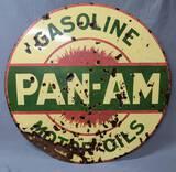 Rare Pan Am Gasoline Porcelain Sign