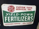 CFS Fertilizers Ag Sign Stout Sign Co.