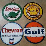 Reproduction Gas Company Signs