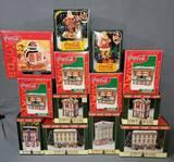 1980-90's Coca Cola Christmas Village