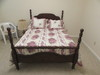 Full-Size Four Poster Bed with Bed Linens