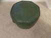 Vintage Vinyl Green Footstool