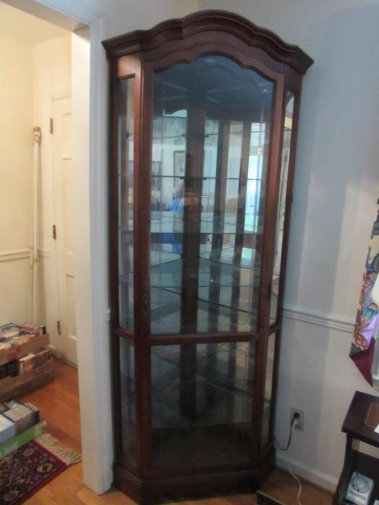 Glass Front Corner Display Cabinet