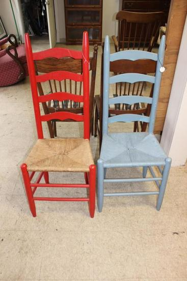 (2) Painted Ladderback Chairs