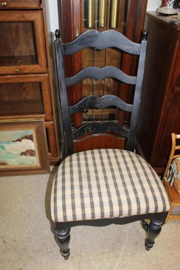 Painted Ladderback Chair w/Upholstered Seat