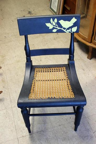 Painted Cain Bottom Chair