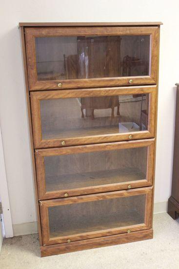 "4-Shelf Barrister Style Bookcase 33"" x 12""x 60"