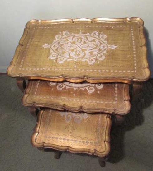 Set of Mid-Century Italian Florentine Wooden