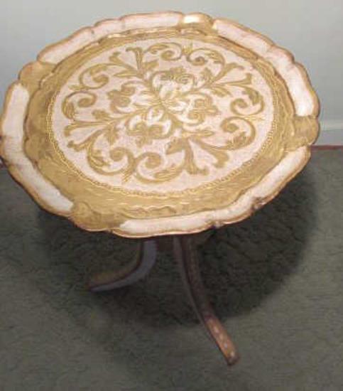 Mid-Century Italian Florentine Wooden Table--13