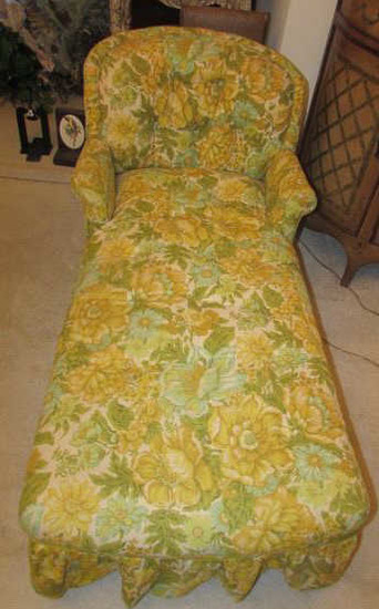 """Vintage Chaise Lounge--48"""" Long"""
