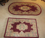 (2) Chinese Oriental-Style Rugs:  Oval 27 1/2