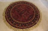 Round Oriental-Style Rug--40
