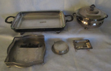 Box of Assorted Silver Plate Items:  2-Handle 20