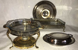 Box of Assorted Silver Plate Items:  2-Handle