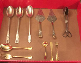 Assorted Silver Plate Serving Pieces, etc.