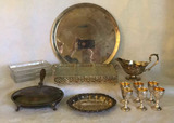 Assorted Silver Plate Items:  Silvent Butler,