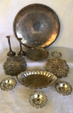 Assorted Silver Plate Items:  Round 17 3/4