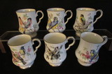 (6) Royal Windsor (England) Coffee Mugs