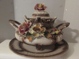 Large Capo-di-Monte Covered 2-Handle Tureen with