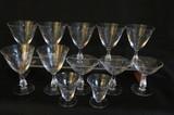 Crystal Stemware:  (7) Water, (3)