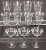 Crystal Stemware:  (8) Water, (3)