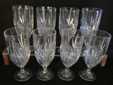 Set of (8) Shannon Crystal Iced Tea Goblets