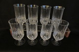 Set of (8) Cristal d'Arques (France) Lead Crystal