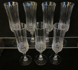 Set of (7) Cristal d'Arques (France) Champagne
