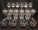 Assorted Christmas Stemware: (2) Sets of (6), (2)