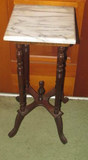 Marble Top Plant Stand--11 3/4