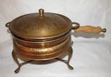 Vintage Copper Chafing Dish (Iran)