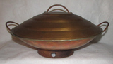 Vintage Copper Persian 2-Handle Covered Cooking