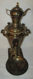 Vintage Brass Samovar Teapot with Underplate and