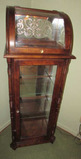 Glass Front Lighted Curio Cabinet with Curved