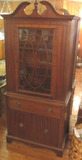 Mahogany Queen Anne China Cabinet with Dental