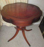Mahogany End Table with Leather Top--28 1/4