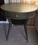 Round Painted End Table--26
