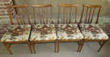 Set of (4) Vintage Dining Chairs