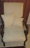 Wood & Upholstered Arm Chair