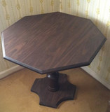 Octagon-Shaped Pedestal End Table--30