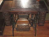 Singer Treadle Sewing Machine--(6) Drawers