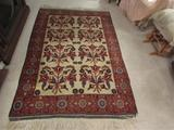 Hand-Knotted Rug (Iran)--4' 2