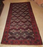 Hand-Knotted Rug (Iran)--3' 6