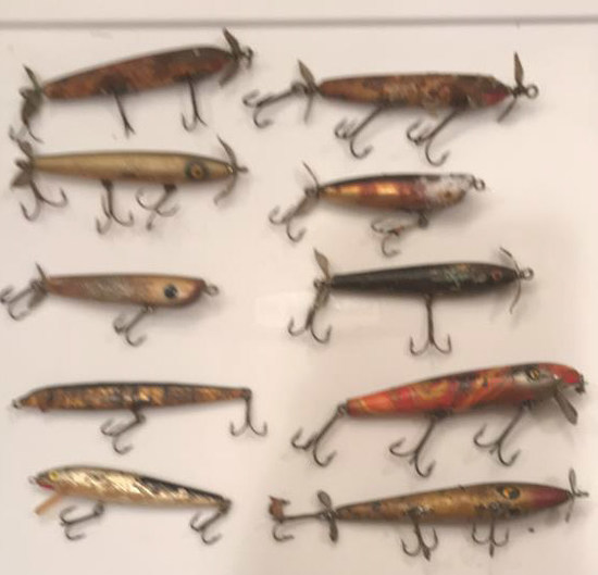 10 old fishing lures