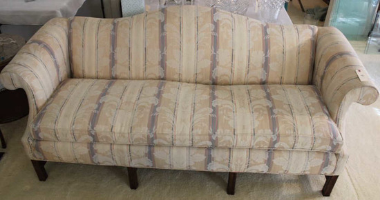 """Upholstered Chippendale-Style Sofa, 80"""" Long"""
